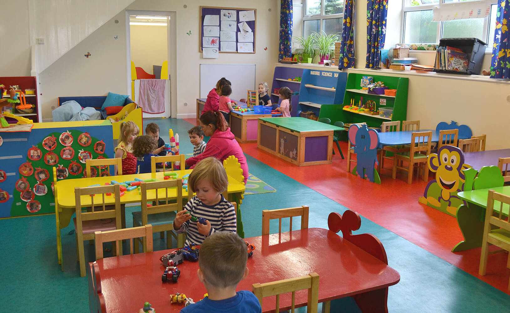 Children playing in the nursery
